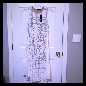 White dress with pattern